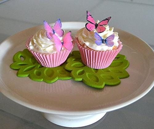 Edible Butterflies© Assorted Pink Set of - Cake Decoration