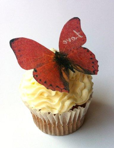 Edible Butterflies Love - Cake and Toppers,