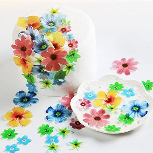 edible flowers cupcake toppers wedding