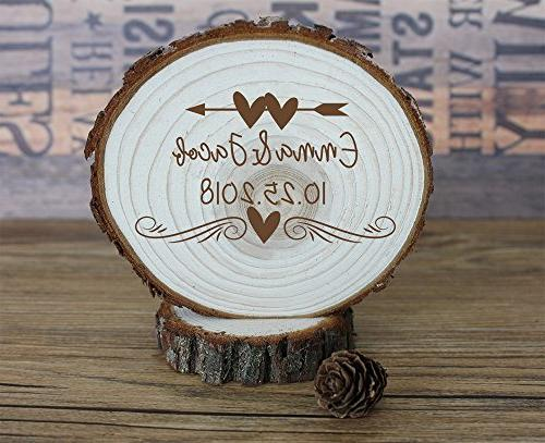 engraved arrow heart personalized wedding