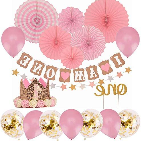 First Birthday Decoration Set For Girls Pink And