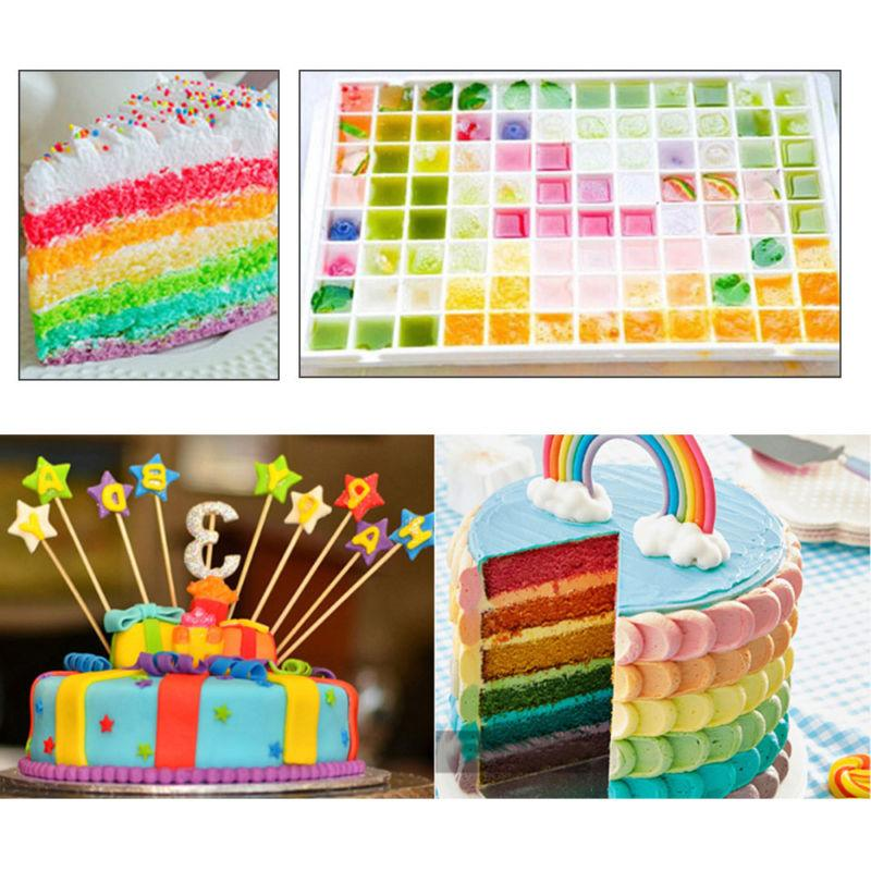 Fondant Macaron Coloring Baking Cake Decorating