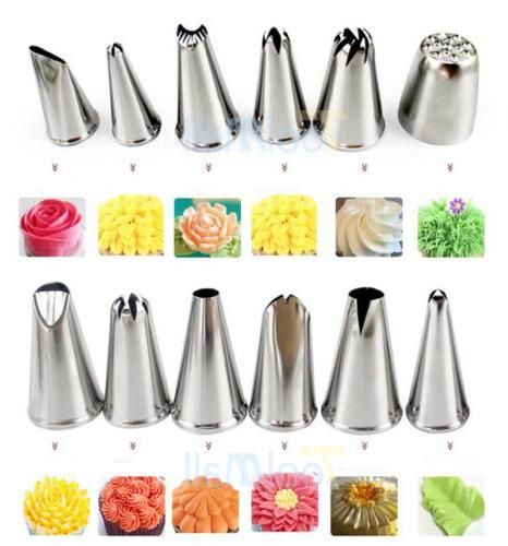 52Pcs Frosting Flower Icing Piping Cake Tips
