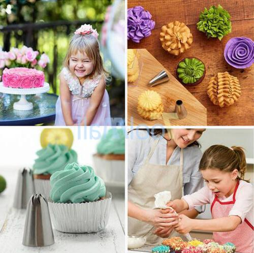 52Pcs Frosting Flower Icing Piping Nozzles Cake Tips Tools