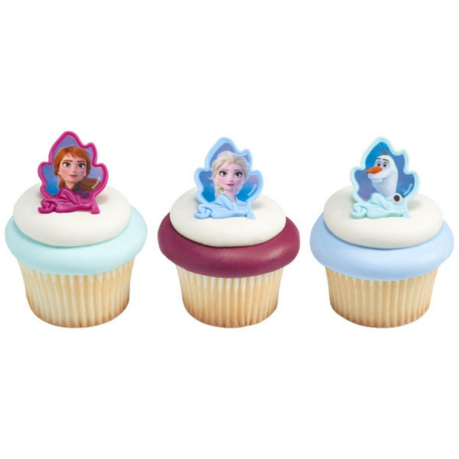 Frozen Cupcake Toppers Party Supplies Cake Decorations - Set