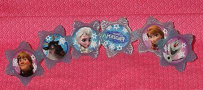 Frozen Cupcake Toppers,Rings,Plastic,DecoPac,Blue,Party Favo