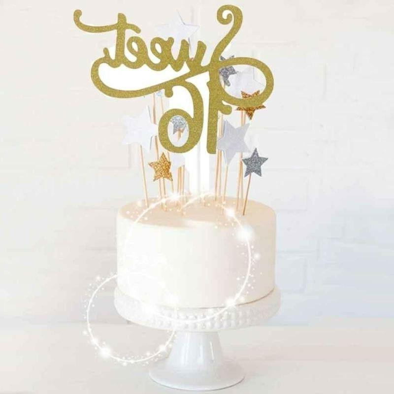 Glitter Sweet Cake Topper Happy Birthday Party Decoration