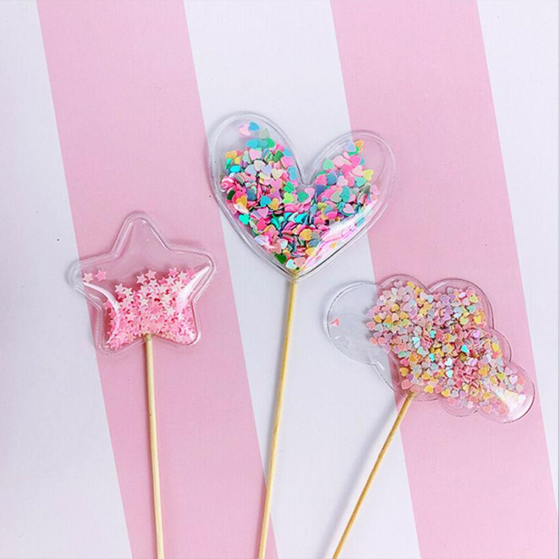 Glitter Crown Cupcake Toppers Cake Topper