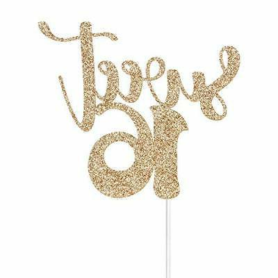 gold glitter sweet 16 cake toppers happy