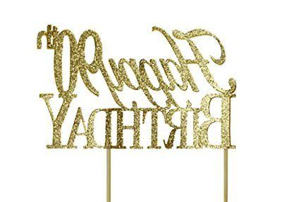 All About Details Gold Happy 90th Birthday Cake Topper