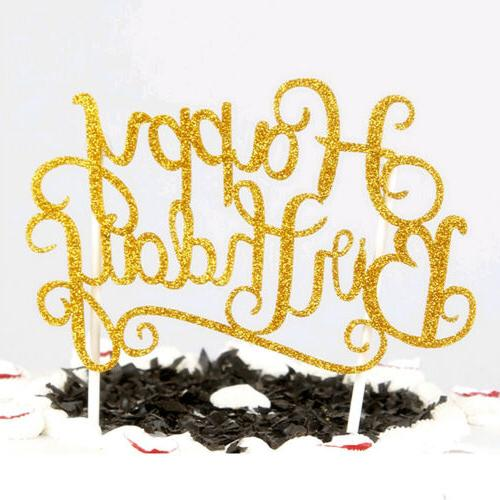 Gold Cake Happy Birthday Party Supplies Pretty