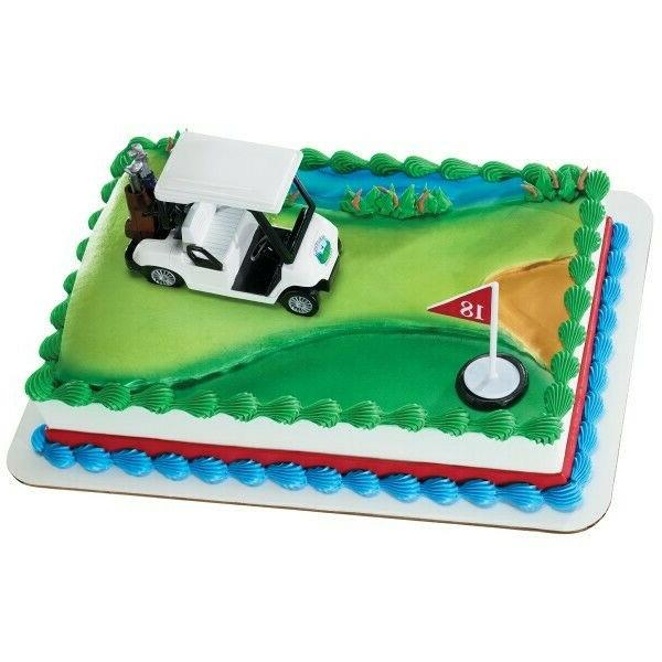golf cart heading for the green cake