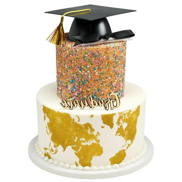 Graduation Hat Cupcake Toppers Decorations