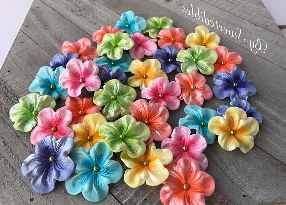 gum paste edible pastel colored blossoms 30