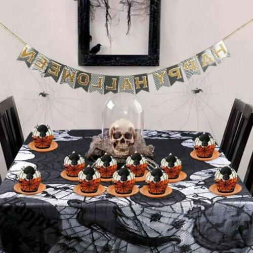 Halloween Spider Web Cake Toppers Decoration