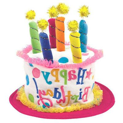 HAPPY BIRTHDAY GIRL CAKE DELUXE HAT ~ Party Supplies Favor A