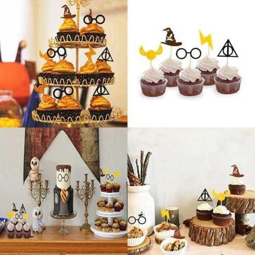harry potter inspired cupcake toppers wizard birthday