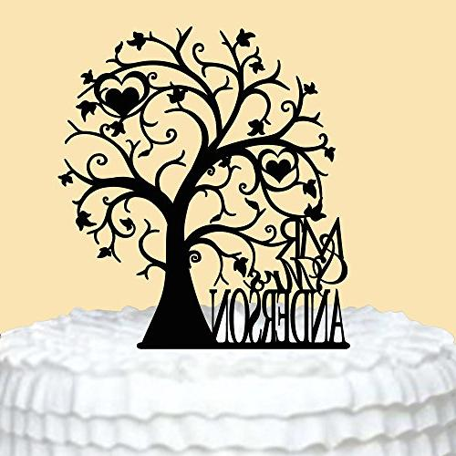 heart tree wedding cake toppers