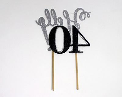 All About 40! Cake Topper,1pc, Birthday &
