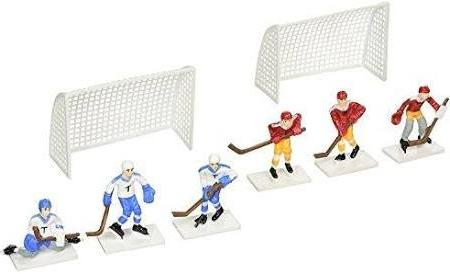 Hockey Players With 2 Goals Cake Topper Decorati