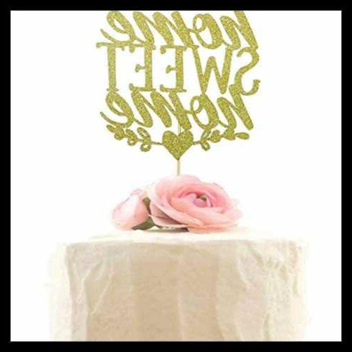Home Sweet Cake Topper Housewarming Party Decoration Decor W