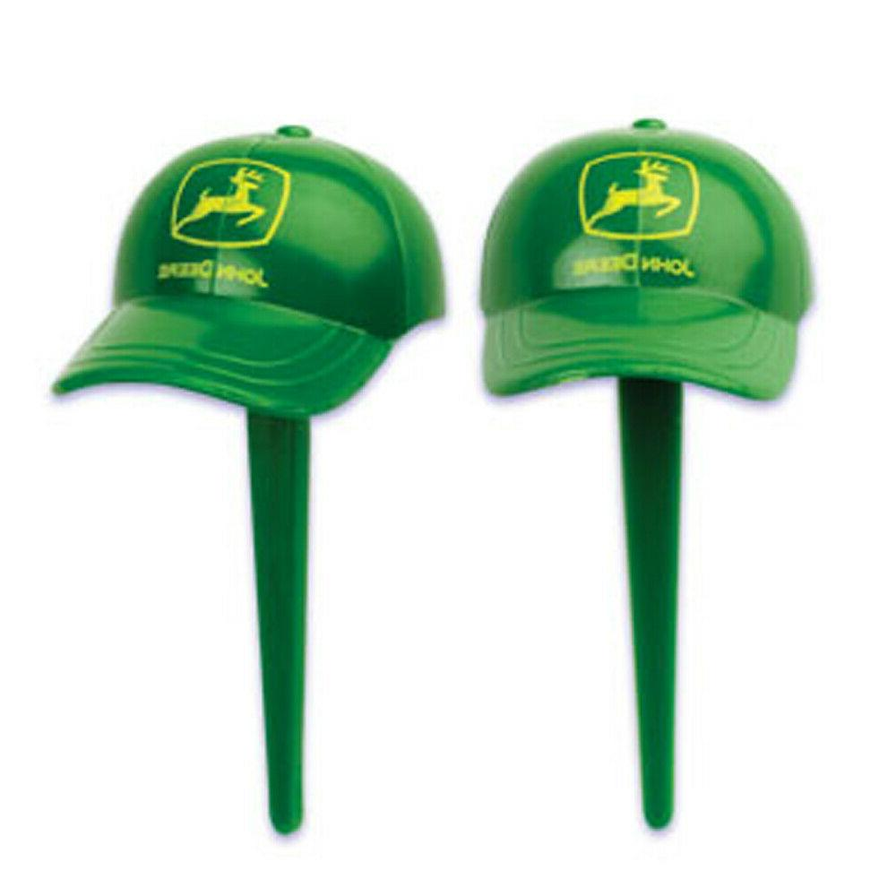 This is a photo of Nerdy John Deere Cupcake Toppers