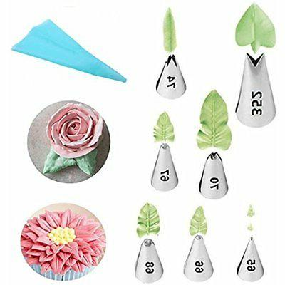 leaf piping tips cake decorating