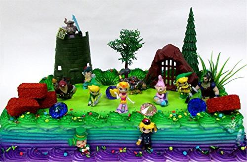 Legend Of Zelda Birthday Cake Topper Set Featuring