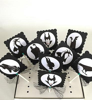 Maleficent Cupcake cake decor/ party OF 10