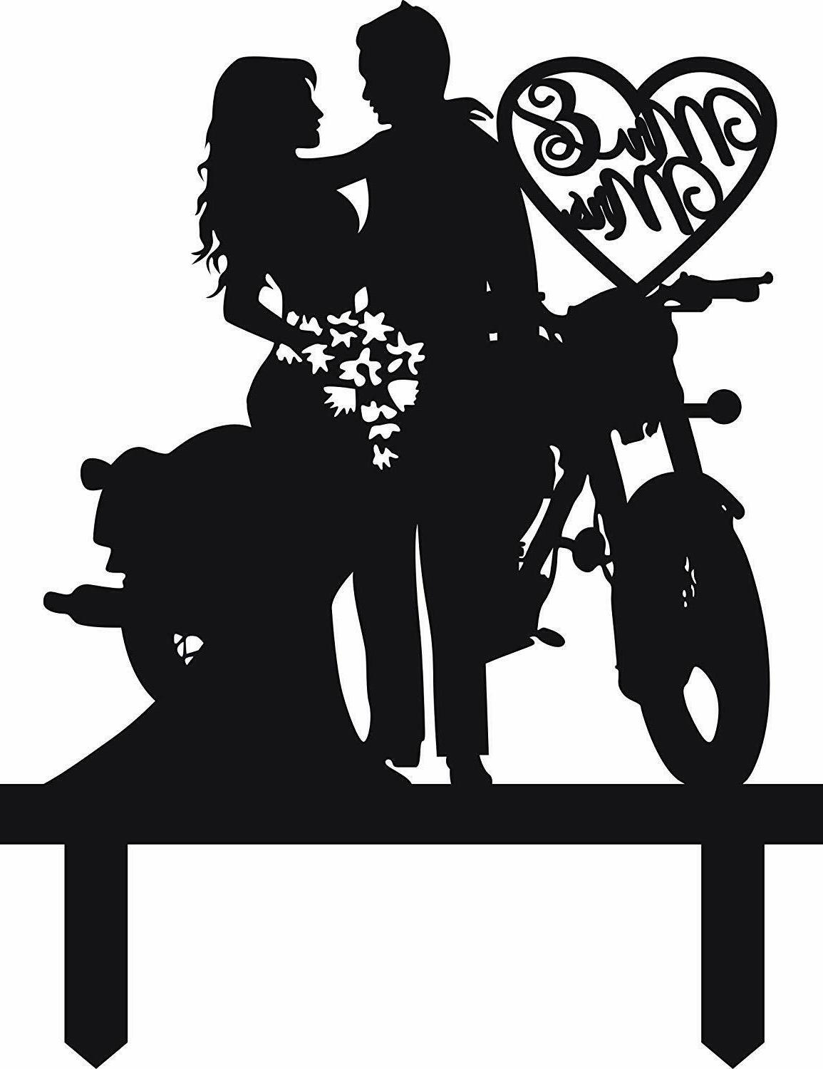 Motorcycle Wedding Cake Topper Anniversary Gifts