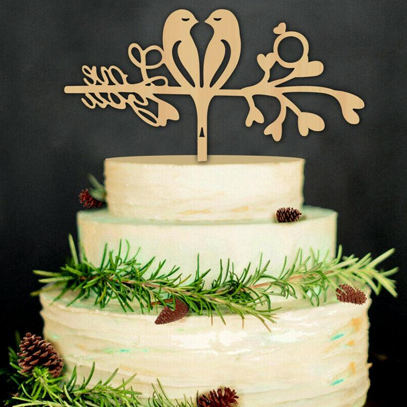 Mr and Mrs Wedding Cake Topper Engagement Cake Wood Toppers