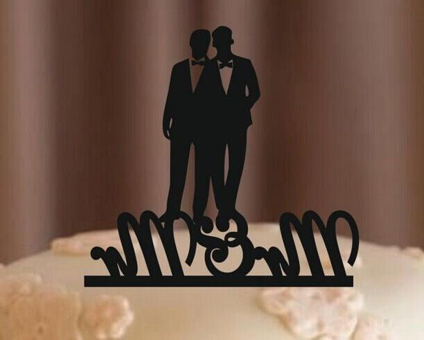 MR and MR Gay Cake Topper, Wedding Decorations, USA
