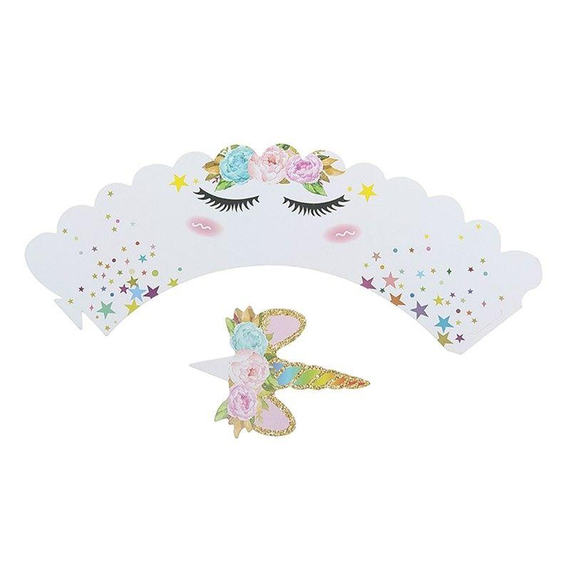 NEW 24Pcs Cupcake Toppers Kids Party