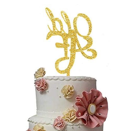 OLD AF Gold Topper - Glitter Bling Bling Birthday - Supplies Plastic Cake