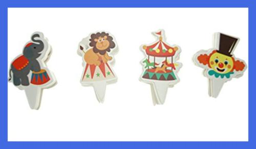 Party Circus Cupcake Toppers 100