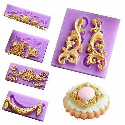 Relief Silicone Mould Vintage Cake Decor Border Sugar Paste Mold