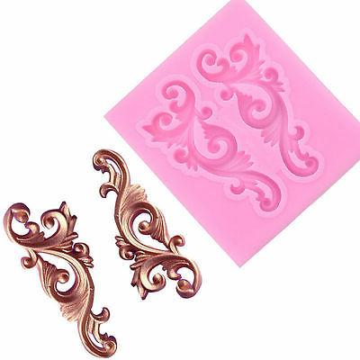 Relief Baroque Silicone Mould Vintage Border