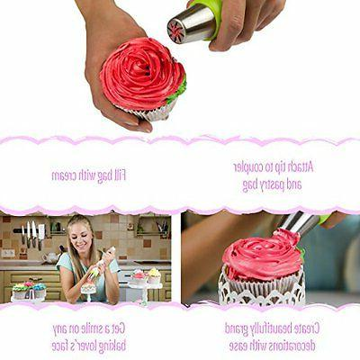 Russian Icing & Tips Piping Cake Supplies Baking 23