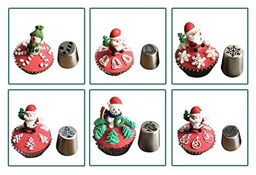 JJMG Piping Tips For Cakes Cookies - Decoration Baking Tools