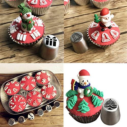 JJMG Piping Christmas For Cakes Cupcakes - Decoration Pastry Tools