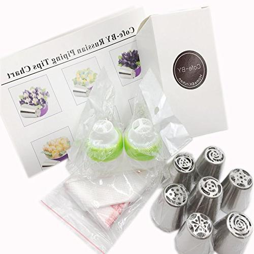 Cofe-BY Russian set Floral Icing Nozzles Decoration Christmas