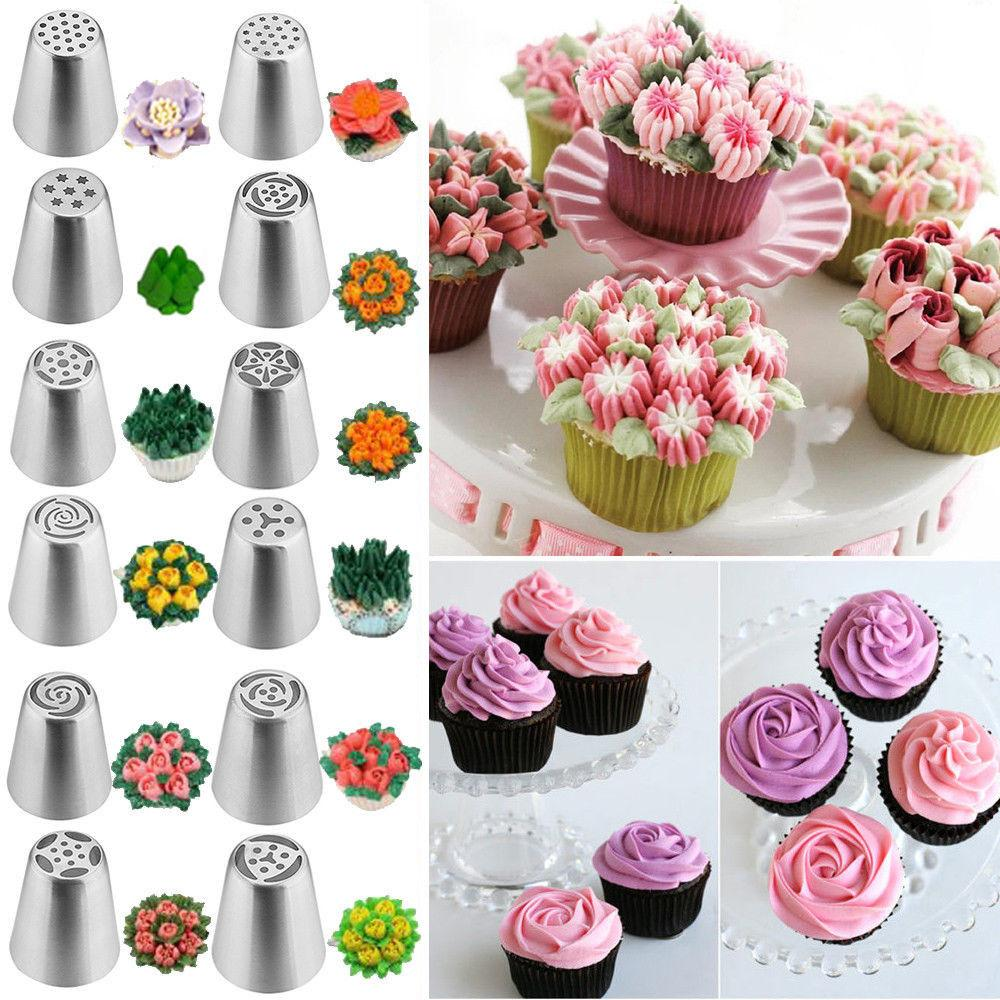 Russian Tulip Flower Icing Piping Nozzles Decorating Tips Tools