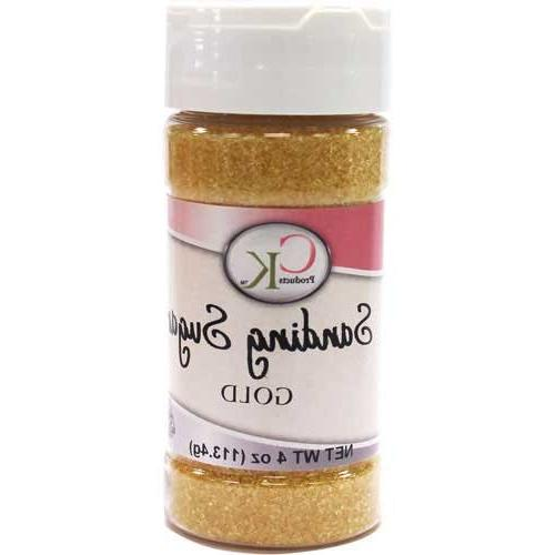 Sanding Sugar Gold 4 Ounces by CK