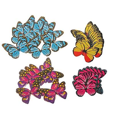GEORLD Set of Butterfly Cake Cupcake Toppers Food 4 Colour