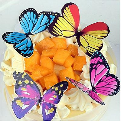 GEORLD of 100 Butterfly Cake & Toppers Colour