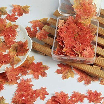 Set Fall Leaves Gold Cake Party Topper