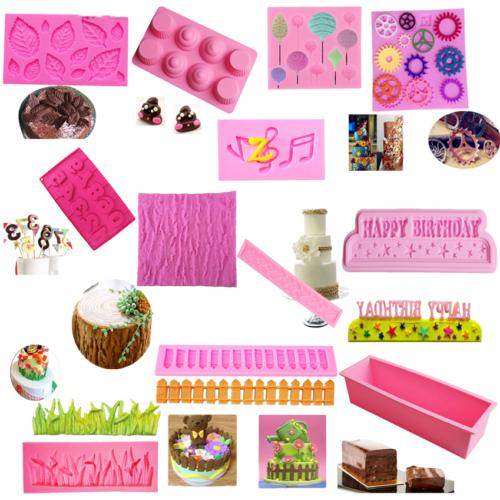 Silicone Fondant Cake Decorating Chocolate Sugarcraft Baking Mould Tool