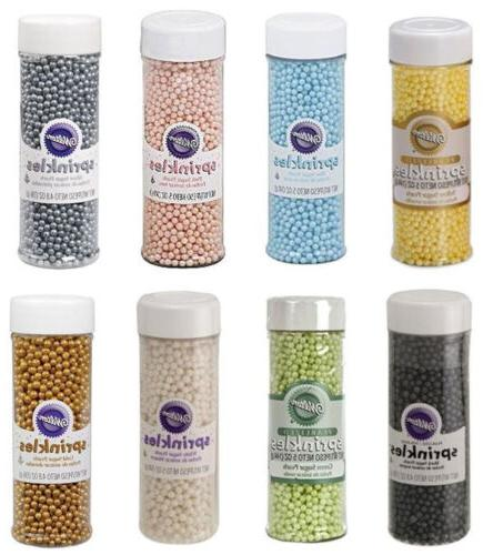 sugar pearls springkles 5 oz from many