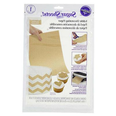 sugar sheet gold shimmer