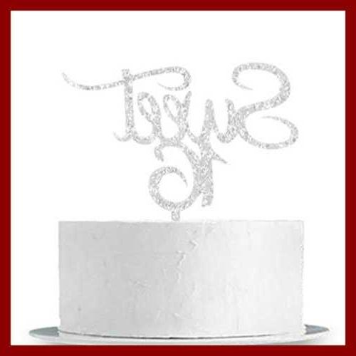 Sweet 16 Cake Topper Silver Sixteen 16Th Birthday Party Deco